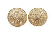 Vintage Signed Guy Laroche Paris Rhinestone & Faux-Pearl Bridal Runway Earrings