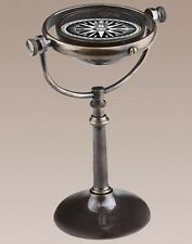 """Nautical Collector's Compass Brass 7.75"""" Antiqued Bronze Finish Authentic Models"""