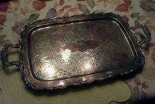 Large Oneida Silver Plate Serving Butler Tray Platter Georgian Scroll Tea Plate