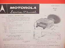 1953-1963 VW VOLVO OPEL REKORD CITROEN BORGWARD MOTOROLA AM RADIO SERVICE MANUAL