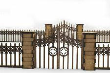 Gothic Fence with Gates and Pillars by WWG