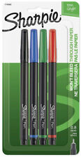 Sharpie Writing Pen Fine Point Tip 4 Colors Acid Free Ink Black Blue Red Green