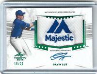 Gavin Lux 2019 Leaf Trinity Majestic Patch Auto RC #ed /20 Dodgers