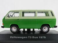 DeAGOSTINI #36 VW T3 Bus (1979) in hellgrünbeige/gelbgrün 1:43 NEU/PC-Vitrine