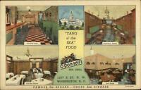 Washington DC O'Donnell's Sea Grill Multi View Linen Postcard