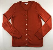 GAP Womens Size Med Womens Cotton/Cashmere Blend Cardigan Sweater Red Buttons