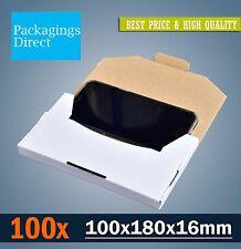 100 Mailing Box 180x100x16mm Rigid Flat Mailer #00 Envelope Size - Large Letter