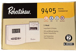 Robert Shaw Digital Thermostat 9405 Non-Programmable - HEAT ONLY