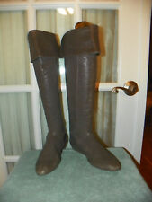 BCBG Max Azria Womens Hughes Over The Knee Flat Boots Brown US 7.5