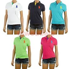 Polo Ralph Lauren Womens Polo Classic Mesh Rugby Big Pony Logo