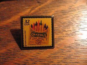 Crayola Postage Stamp - Vintage 1998 USA 32 Cent UPS Postal Lapel Hat Pin