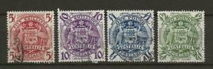 * AUSTRALIA SG224a-d 5s to £2 Green Coat of Arms Fine Used UK P&P Free £1 WW