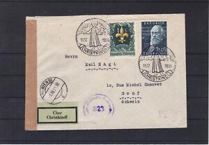 RRR 1951 Christkindl Leitzettel zensuriert in die Schweiz