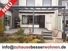 Terrassendach Aus Aluminium Mit Vsg Glas Kompl Neu ~ Terrassendach vsg glas mm terrassenüberdachung alu weiss m