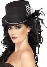 Smiffy's Top Hat with Skeleton Hand Halloween Fancy Dress Costume