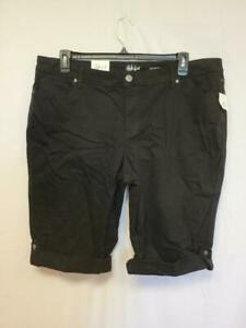 Style and Co Womens Shorts Black Skimmer Mid Rise Size 20W