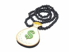 New Hip-hop fashion good wood nyc Necklace ( Money Bag $ )