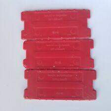 3 Matchbox Superfast Track Connector Vintage Mattel Red authentic Bin16