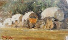 Planwagen,kleine Ölstudie, Karl Weysser 1833