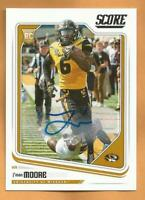 J'mon Moore RC 2015 Score Autographed Football Card