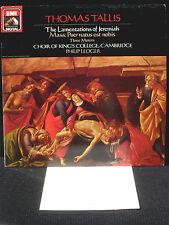 Tallis Ledger Lamentations Jeremiah - Missa Puer natus est nobis LP NM, CV EX+