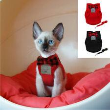 Escape Proof Cat Walking Jacket Harness and Leash Pet Dog Walk Collar Mesh Vest