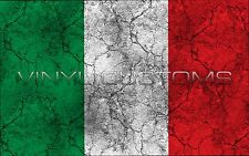 "5"" Italy Flag Vinyl Decal Sticker JDM"