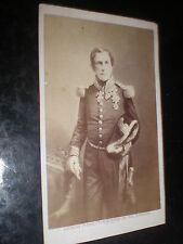 Cdv old photograph king Leopold I Belgium Ghemar Freres Bruxelles c1860s R38(17)