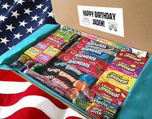 American Sweets Box Hamper - American Sweets and Candy - Personal Message!