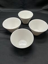 Rosee' Blanche Lot of 4 White Ceramic Basic Conical Dip Bowls