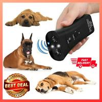 Ultrasonic Handheld Dog Repellent&Trainer Anti Barking Pet Trainer LED Light US