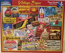Vintage Signs 1000 piece jigsaw puzzle by White Mountain