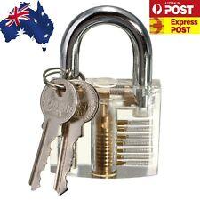 Pick Cutaway Visable Padlock Lock For Locksmith Practice Training Skill Set OK