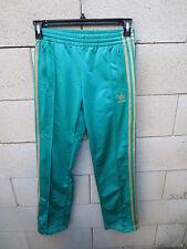 Pantalon ADIDAS rétro vintage femme vert or Trefoil sport détente loisir 34