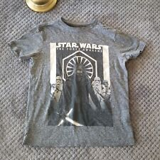 Old Navy Collectabilitees Gray Star Wars T-Shirt Force Awakens Youth Sz 6-7