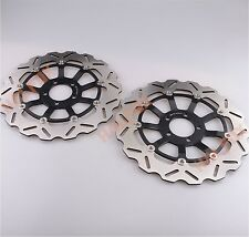 Front Brake Disc Rotor For  KAWASAKI ZZR1100 93-99 ZZR1200 02-05 ZX12R 00-03