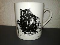 TAZZA DA CAFFE'/THE- ROYAL ACADEMY OF ARTS LONDON- STUDY OF A CAT E.JACKSON ARA