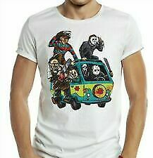 Horror Mystery Machine T-Shirt - Halloween Krueger Scooby Doo Retro Film TV Cool