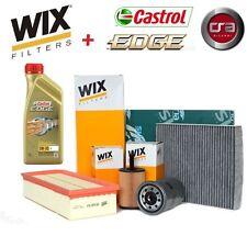 KIT TAGLIANDO OLIO CASTROL EDGE 5W30 5LT 4 FILTRI WIX VW POLO 1.6 TDI 6R 90 CV