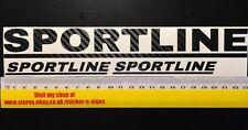 Set 3x de fibra de carbono VW VOLKSWAGEN Sportline Pegatina Calcomanía Pegatinas T4 T5
