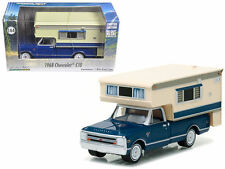 GREENLIGHT 1:64 HOBBY EXCLUSIVE 1968 CHEVROLET C-10 W LARGE CAMPER 29878 DIECAST