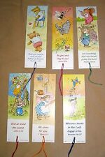 18 Woodland Creatures Bookmarks, with Bible Text, coloured tassel EB173