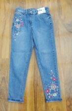 George Denim Skinny girls Fabulous embroidery jeans. Size 13-14 years. Brand new
