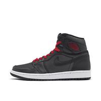 Men's Air Jordan Retro 1 High OG Basketball Shoes Black/Black/Metallic Silver/Gy