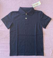 Cat & Jack Boys' 3pk Short Sleeve Stretch Pique Uniform Polo Shirt Navy Blue