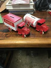 "2 - ERTL COCA COLA ""1926 Bull Dog DIE-CAST METAL BANK"""