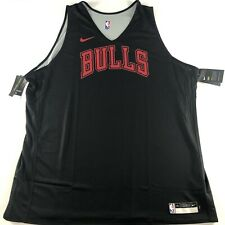 Nike NBA Chicago Bulls Player Issue Training Jersey Vest Reversible 4XL Rare