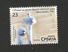 SERBIA-MNH** STAMP-REMEMBERING THE VICTIMS OF THE WWII , KRAGUJEVAC 1941-2016.