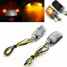 2X 6LED Motorcycle Mini Amber Turn Signal Lights Blinker Indicator Black 12V BS3