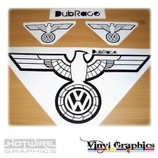 Vinyl Car Decal Sticker Pack - VW Badge German Eagle Wings - Polo Golf Scirocco